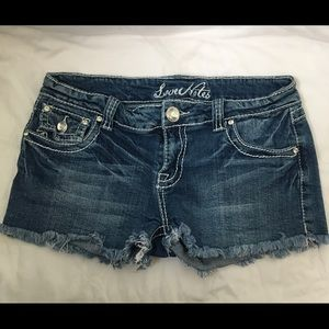 Love Notes Jean Shorts, Size 9/10